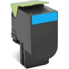 Cheap Compatible Lexmark 80C8HC0 808HC Cyan Toner Cartridge