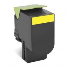 Cheap Compatible Lexmark 80C8HY0 808HY Yellow Toner Cartridge